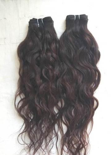 Raw natural Wavy temple hair