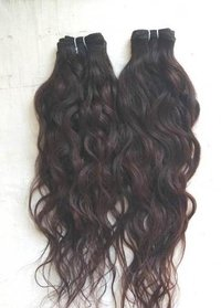 Raw natural Wavy temple hair, Wavy Brazilian Virgin Human Hair Weave