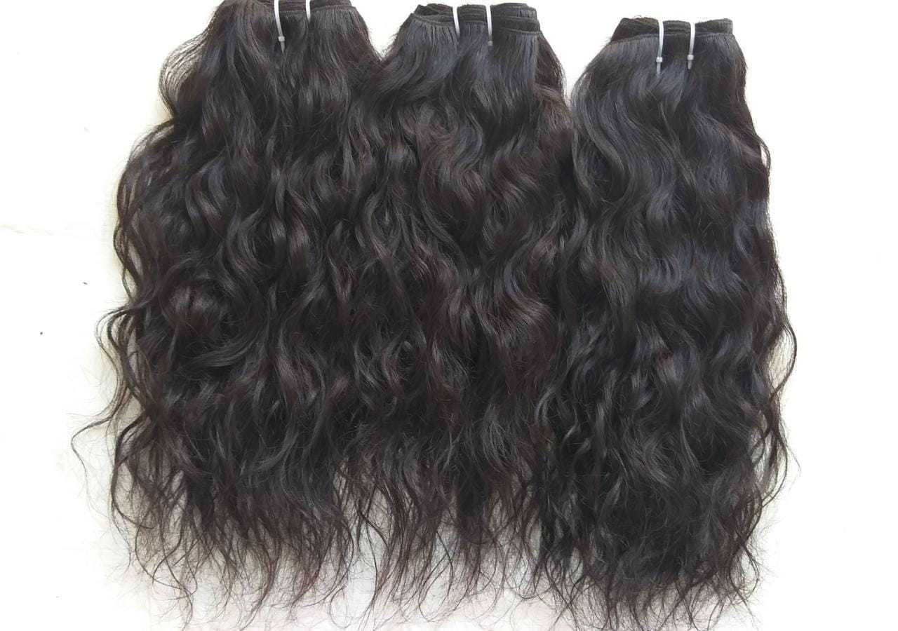 Raw natural Wavy temple hair, Wavy Brazilian Virgin Human Hair Weave