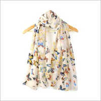 Ladies Butterfly Printed Scarf