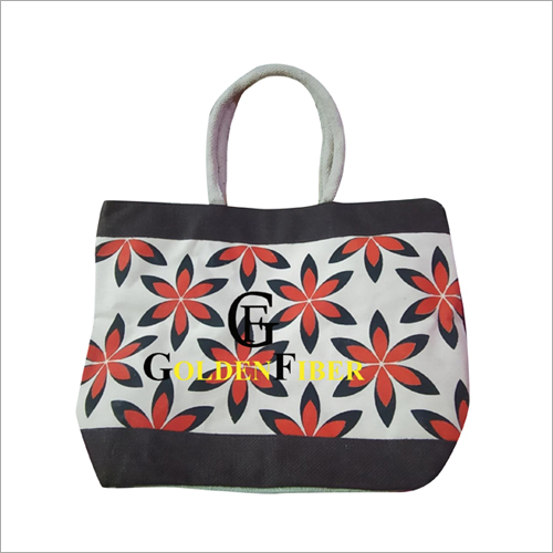 Printed Designer Jute Bag