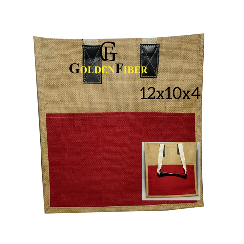 Jute hand Bag With Pocket