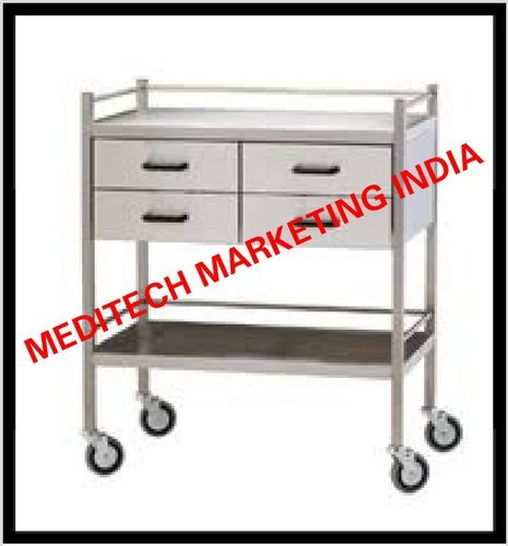 SS MEDICINE TABLE 4 DRAWER