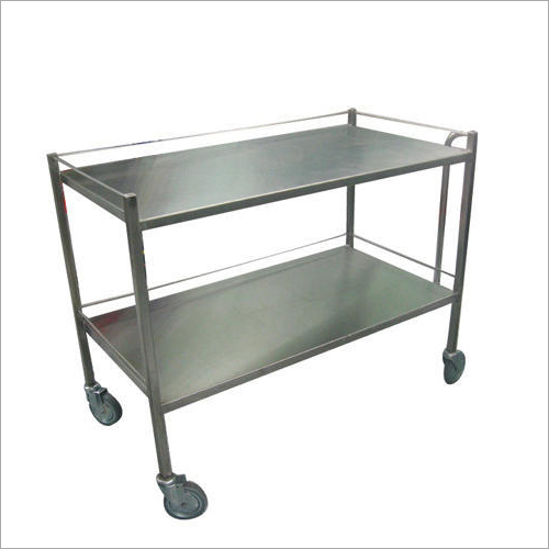 2 Shelves Stainless Steel Trolley