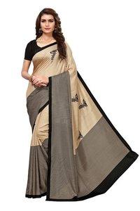 mohini black  line batter fly Maalgudi silk Saree