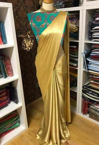 Superhit Satin Design With Jaquard Blouse
