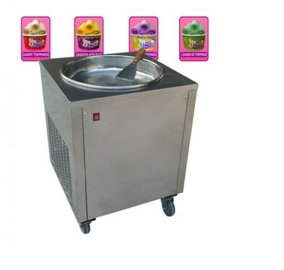 Single Pan Fried Ice Cream Machine