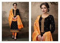 Jam Silk Foil Print with Embroidery Work