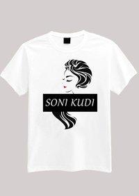 Customized T-shirt for Women with soni kudi design.