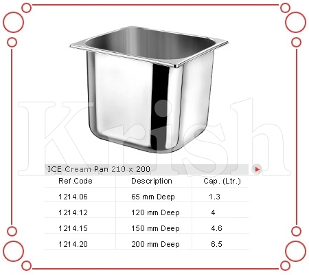 Ice cream pan 210 X 200 MM