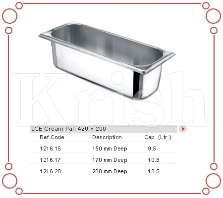Ice Cream Pan 420 X 200 MM