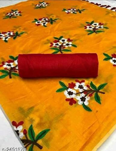 chanderi flower cotton  saree