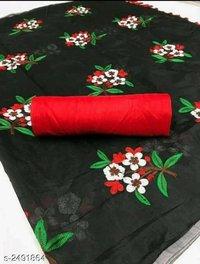 chanderi flower cotton  saree