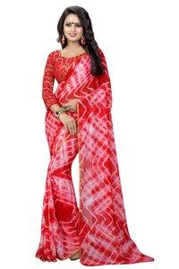 shibori style chiffon saree