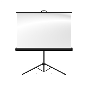 White LCD Projector Screen