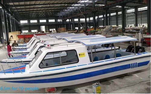 6.5m FRP boat with full cover and half cover