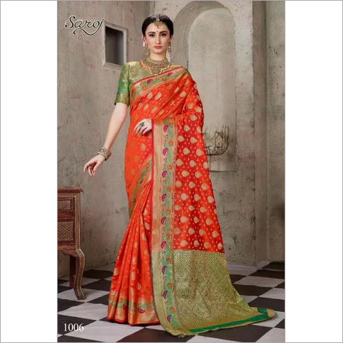 Facncy cotton silk saree