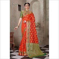 Facncy cotton silk saree
