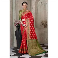 RoyaL Red cotton silk saree