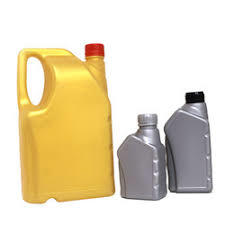 plastic lube oil cans