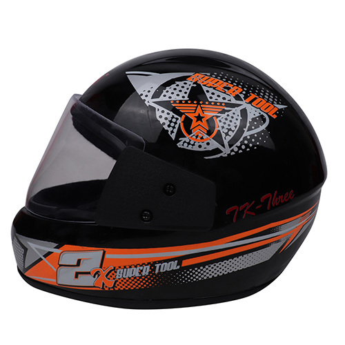 Printed Black Full Face Helmet