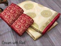 chanderi cotton designer saree