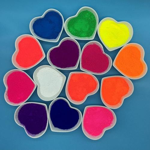 Fluorescent Pigments for Cosmetic Sindoor