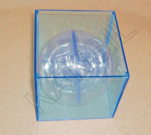 Combination of Cube and sphere (transparent) model