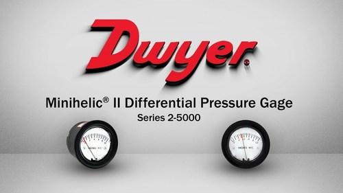 Dwyer 2-5205-5PSI Minihelic II Differential Pressure Gauge 0-5 PSI