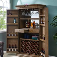 hand made wooden bar