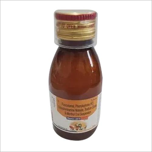 Paracetamol Phenylephrine HCL Chlorpheniramine Maleate Sodium Citrate Menthol oral Suspension
