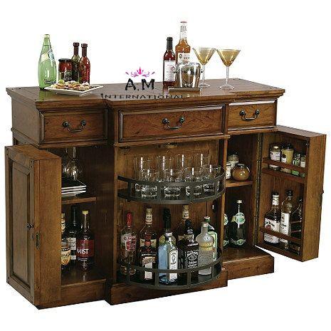 wooden stylish bar cabinet