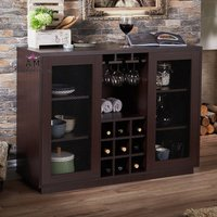 anitique mini bar cabinet