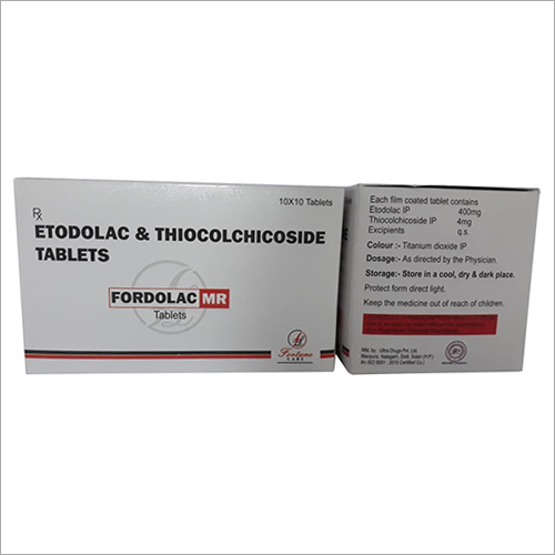 Etodolac And Thiocolchicoside Tablet