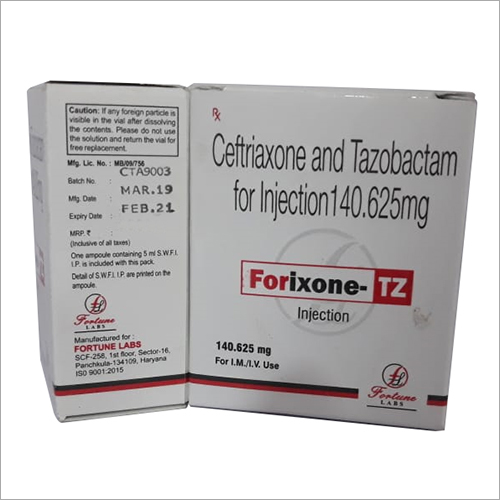 140.625 mg Ceftriaxone and Tazobactam Injection