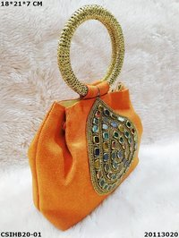 Ethnic handcrafted jute handbag