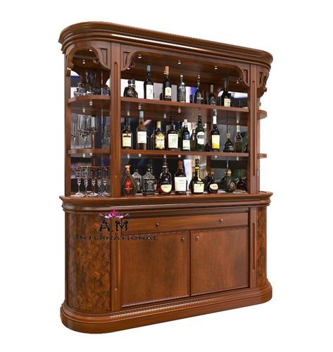 half round wooden bar cabinet