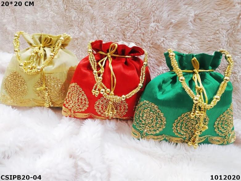 Ethnic potli pooja bags