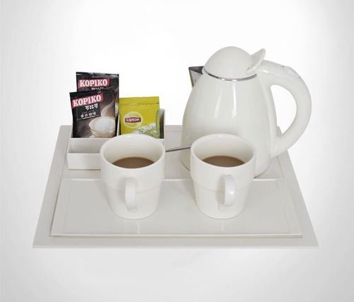Cordless Electric Kettle and Tray set