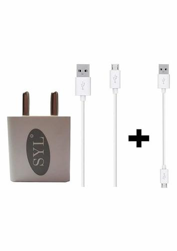 2 Ampere Mobile Charger Adapter with 1 Meter Micro USB Fast Charging Data Cable and Turbo Cable Compatible with Asus Zenfone Max M1