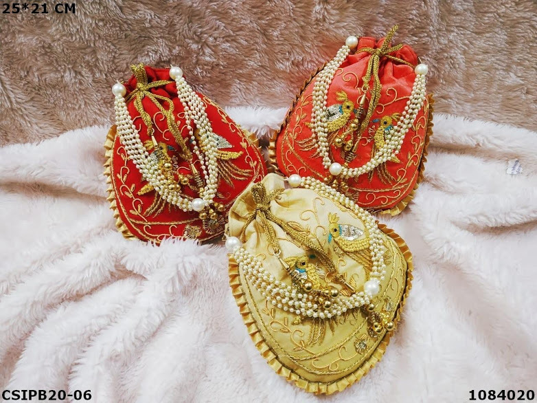 Bridal silk batua potli bag