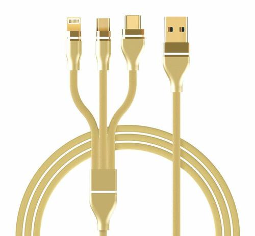 3 in 1 Nylon Braided 3.0A Data Cable for Charging