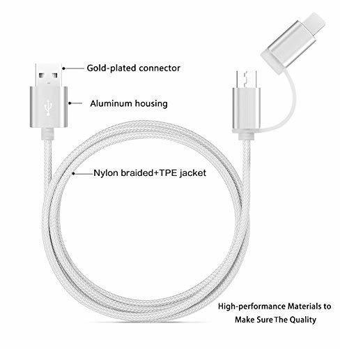 2 in 1 Lighting and Micro USB Cable