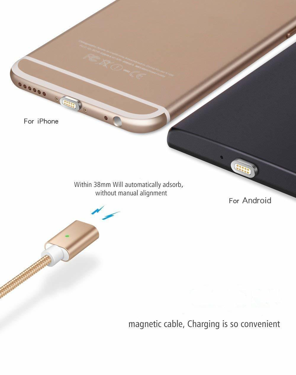 Magnetic Fast Charging and Data Transmission Cable for All Android Mobiles