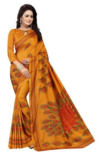 maalgudi kanhaiya mustard silk saree