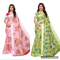 trendy floral designs saree