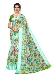 trendy floral designs saree