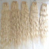 Raw natural wavy human hair,No Shedding No Tangle Thick End