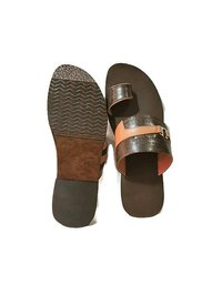 Brown Leather Chappal