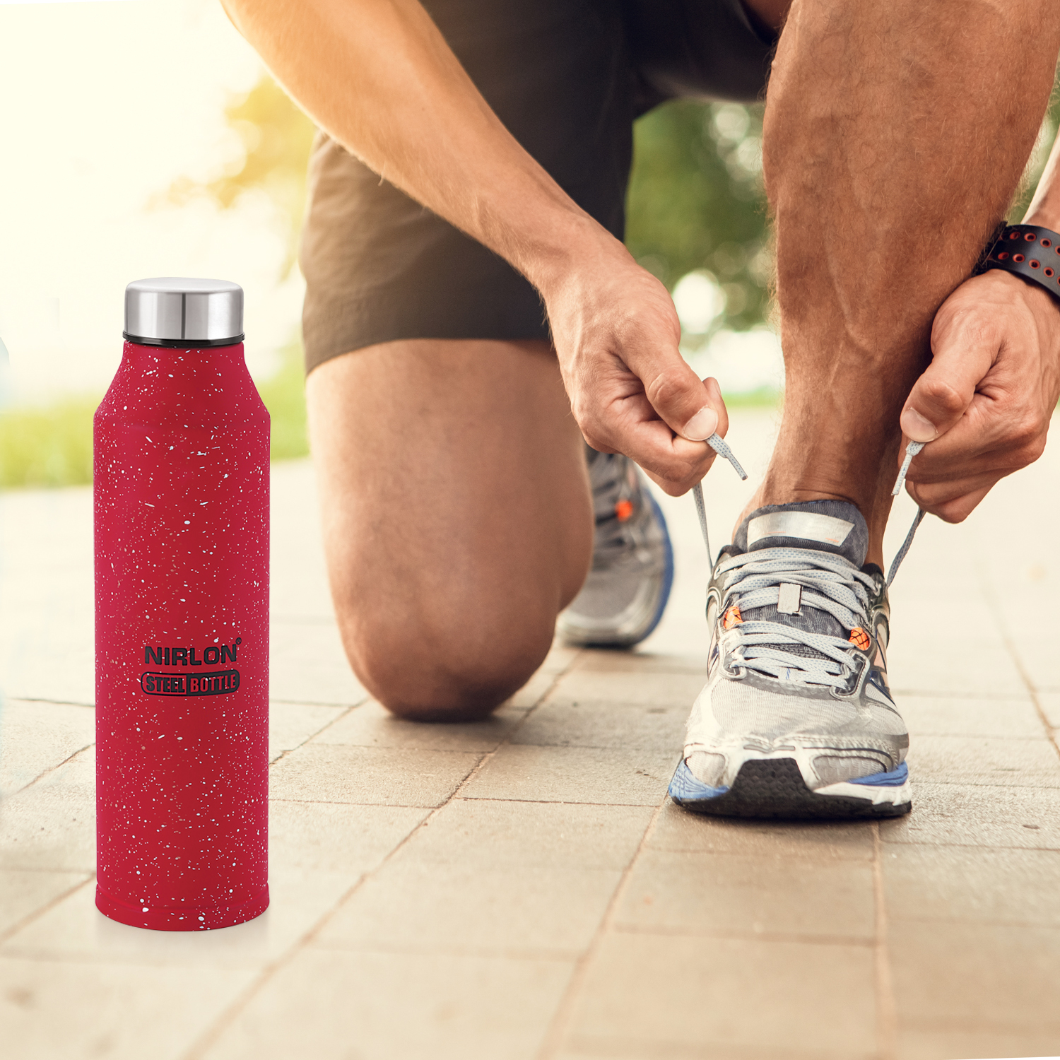 Stainless Steel Bottle Red